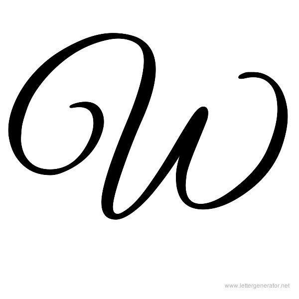 Great Vibes Font Alphabet W | Monograms designs | Cursive w