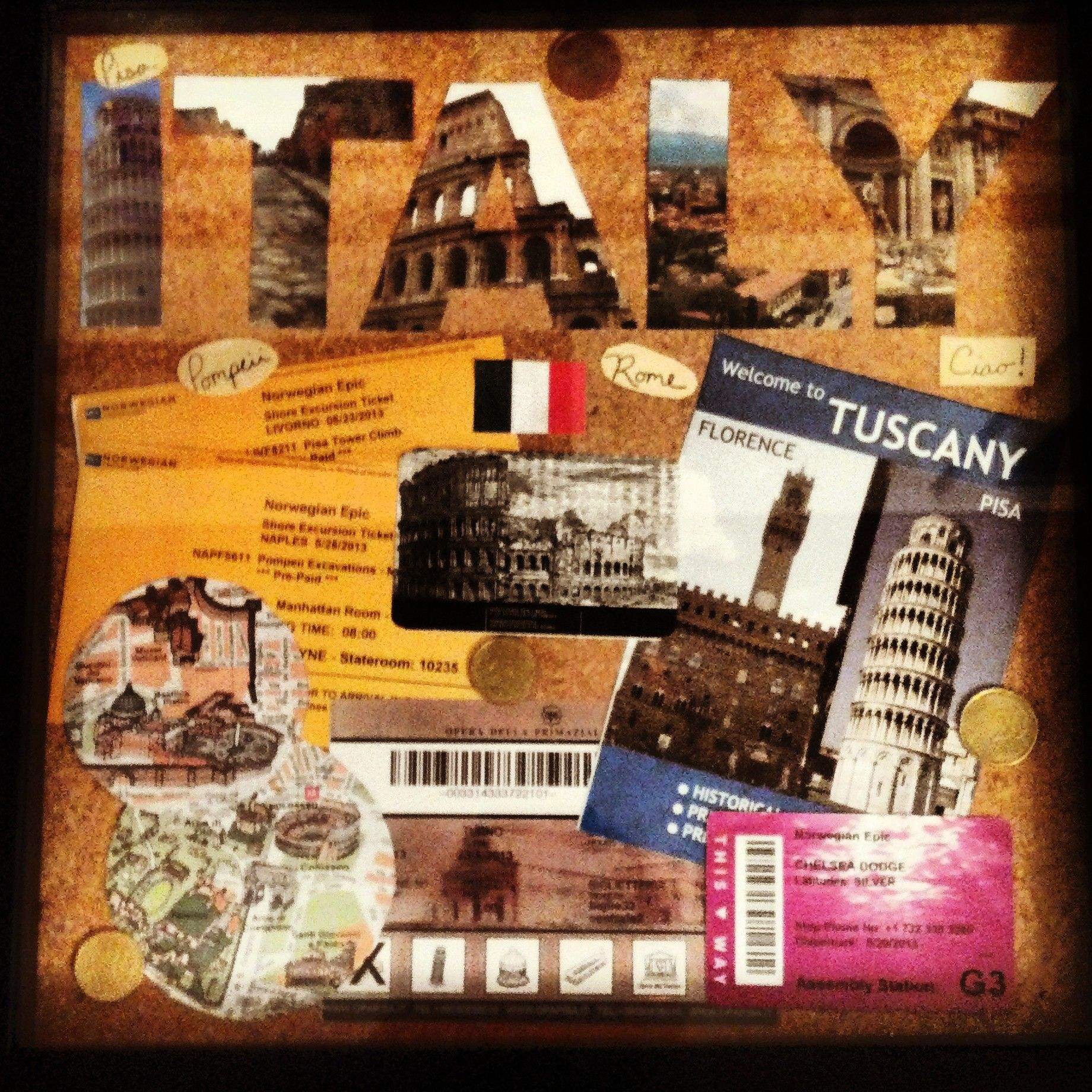 Shadow box collage   Personal Creations   Pinterest   Locales ...