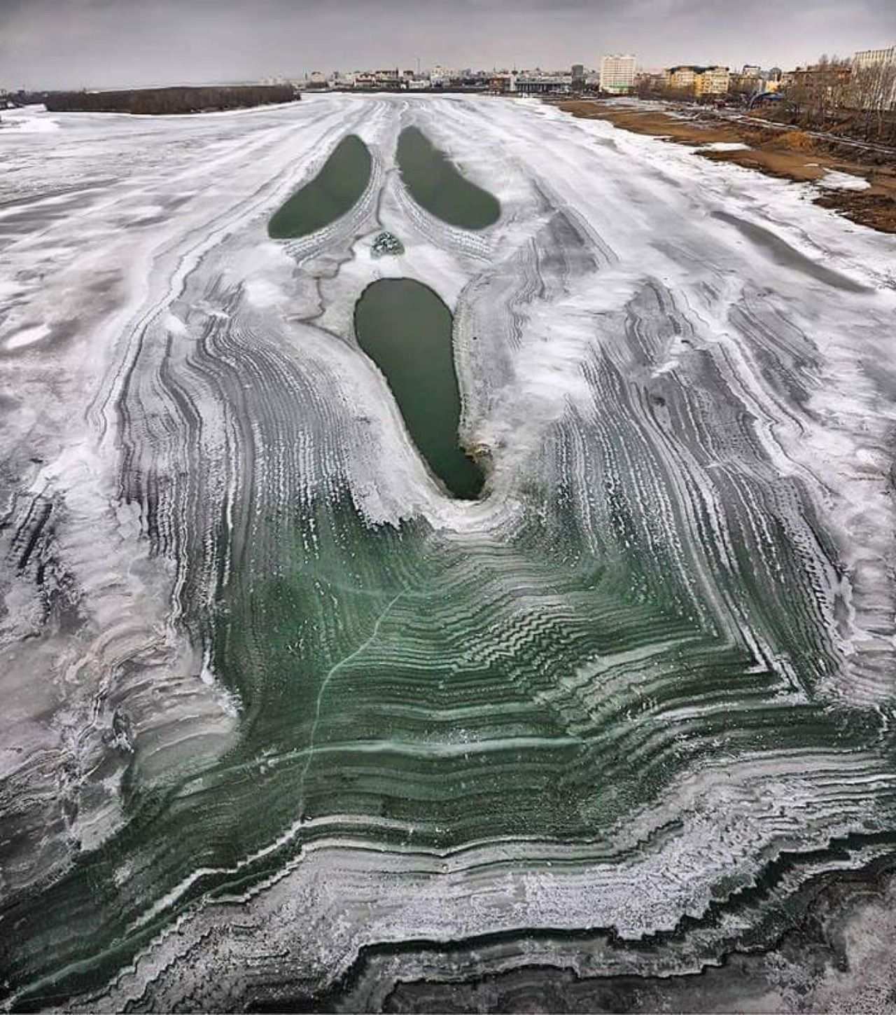 "goth9: "" A river that iced over Russia """
