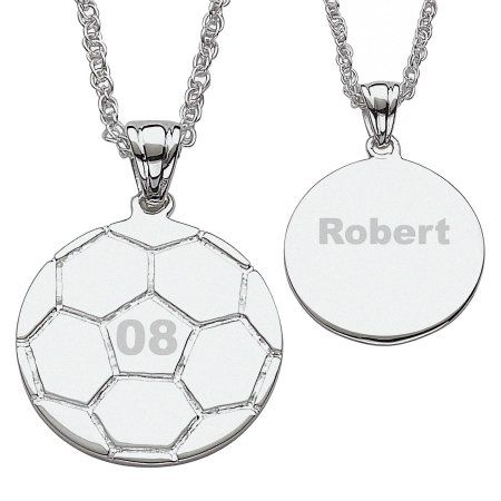 Personalized silver tone soccer necklace soccer pinterest personalized silver tone soccer necklace mozeypictures Image collections