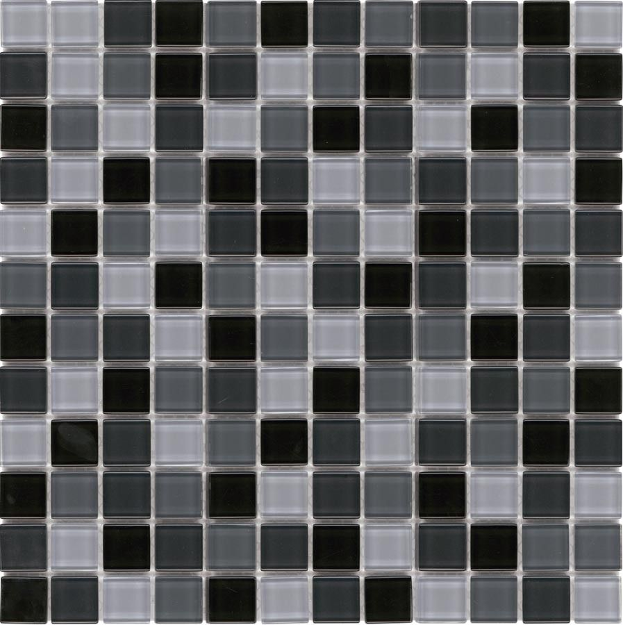 Mineral Tiles Glass Mosaic Tile Backsplash Charcoal Blend 1x1 9 95 Http Www Miner Glass Mosaic Tile Backsplash Mosaic Glass Glass Mosaic Tiles