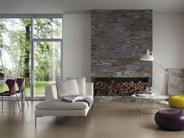 relooker le salon avec des plaquettes de parement plaquette de parement murs du salon et parement. Black Bedroom Furniture Sets. Home Design Ideas