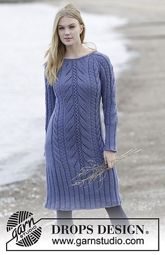 Regal Splendour - magnificent knitted cable dress. Free pattern ...