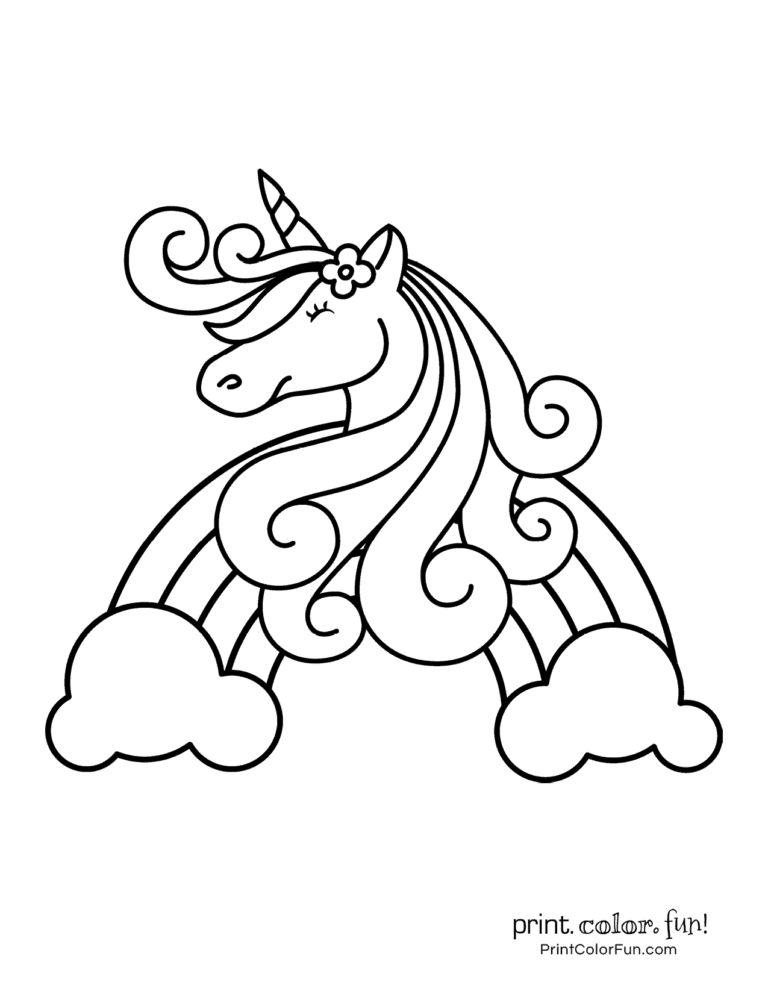 100 magical unicorn coloring pages: The ultimate (free