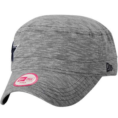 332898e5514 Women s Dallas Cowboys New Era Heathered Gray Team Mist Military Adjustable  Tri-Blend Hat