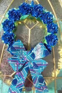 Pretty Blue Rose Wreath