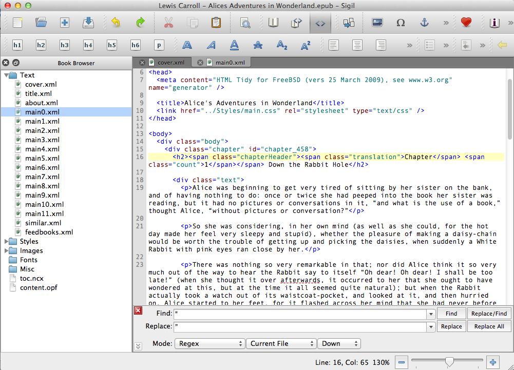 Sigil - The EPUB Editor - Google Project Hosting, now gone to github