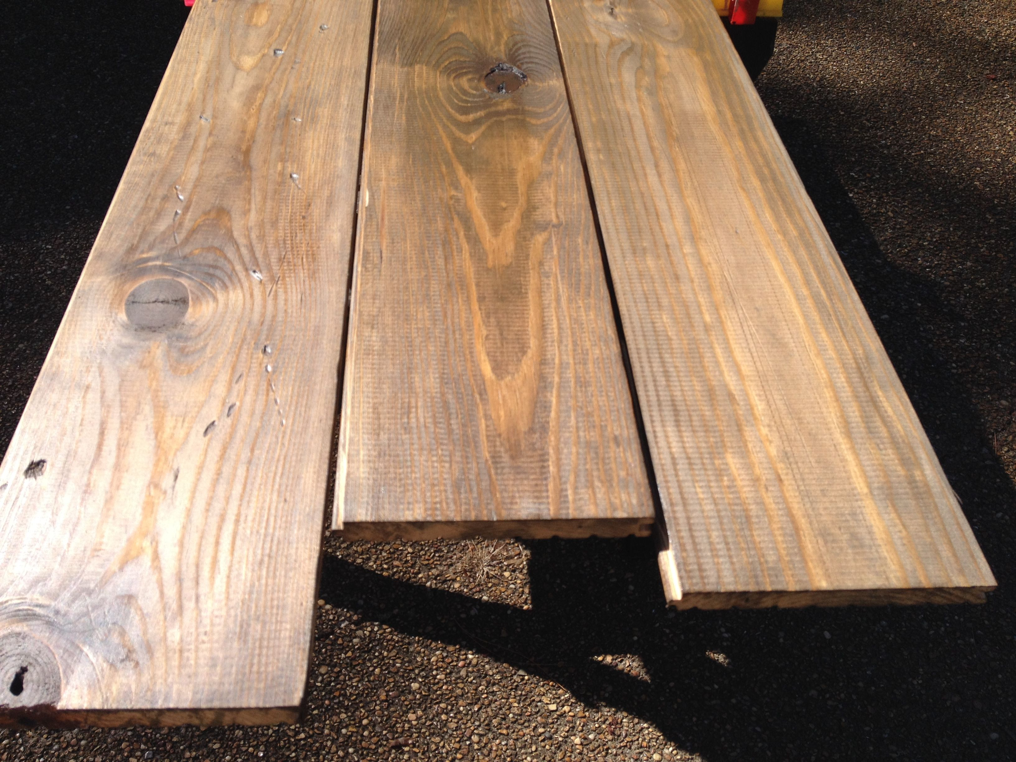 Clic Dark Stained Southern Yellow Pine These Have Pre Conditioner And Two Coats Of Stain