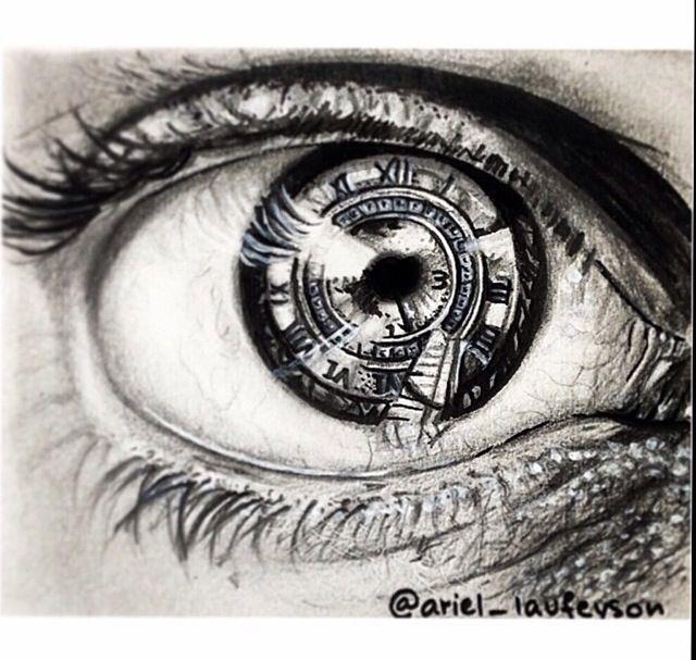 Eye And Multiple Clock Tattoo: Body Art, Drawings, Art