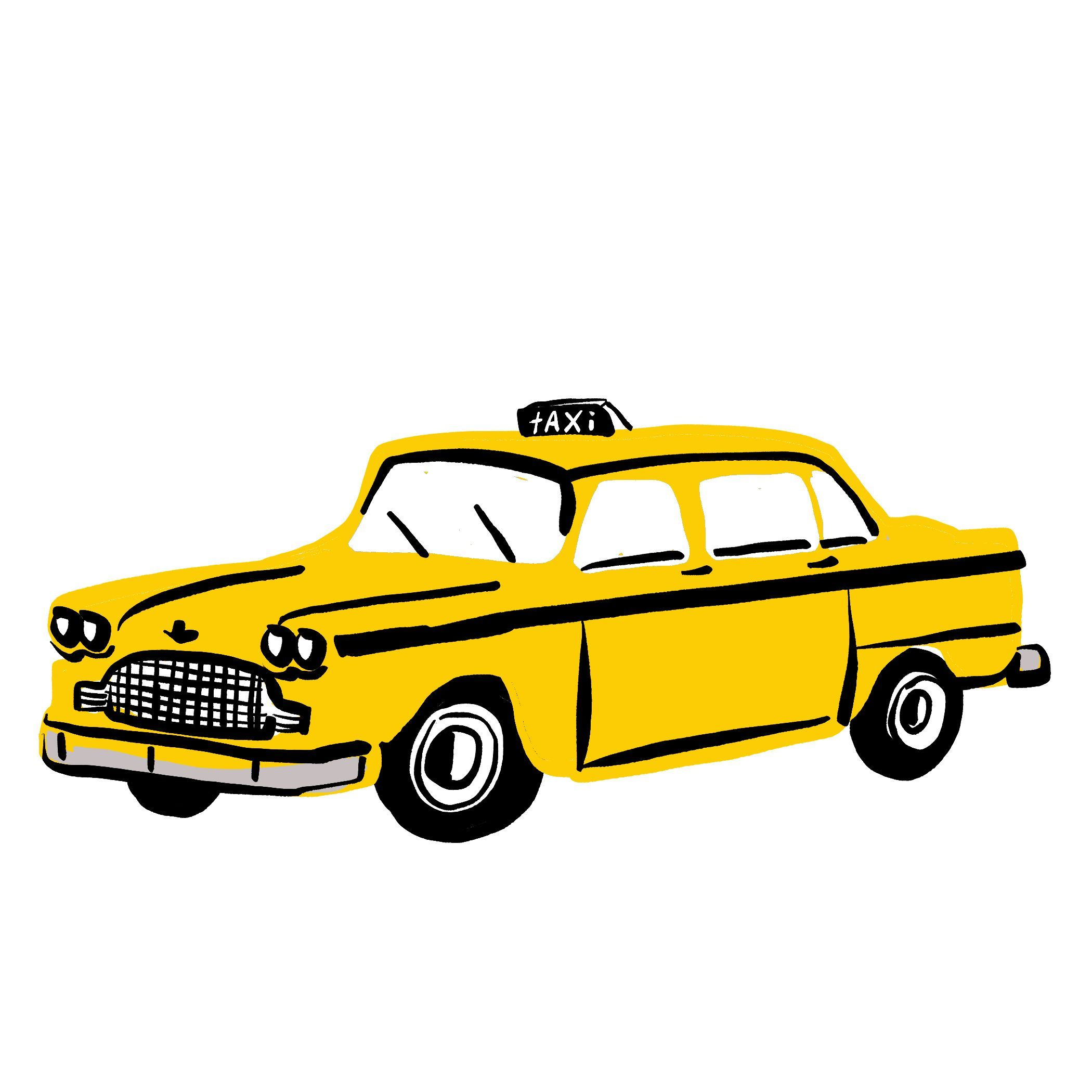 Digital Illustration Nyc Yellow Taxi Cab Copyright 2019 Zoe Wodarz Illustration Available For Purchase Yellow Taxi Cab Taxi Drawing Yellow Taxi [ 2100 x 2100 Pixel ]