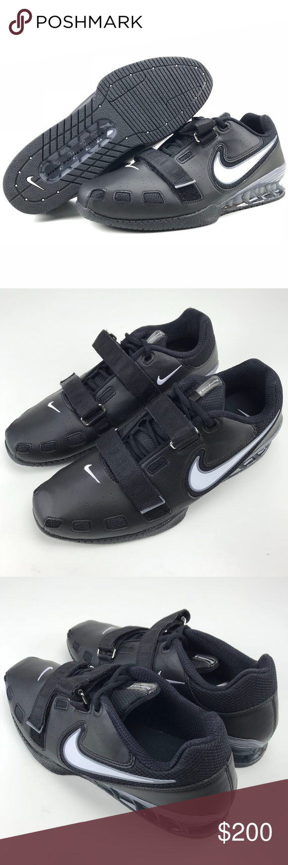 Nike Romaleos 2 Weightlifting Shoes Nike Romaleos 2 Weightlifting Shoes  Size 14 Men s Black White Cool Grey 476927 Brand new shoes 028578d370ae