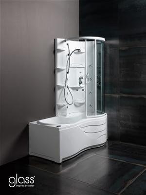 Vasca Con Doccia Incorporata.Glass Vasca Capri 170 X 70 85 Vasca Combi Con Doccia Integrata