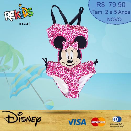 Maiô Minnie - Tamanhos 2 e 5 anos - R$79,90.