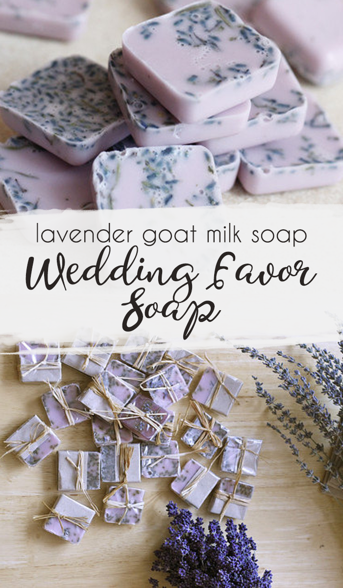 These cute lavender goat milk soap favors made with natural organic ...