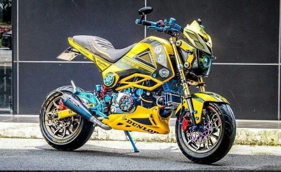 200 Custom Honda Grom Msx125 Pictures Photo Gallery Stretched