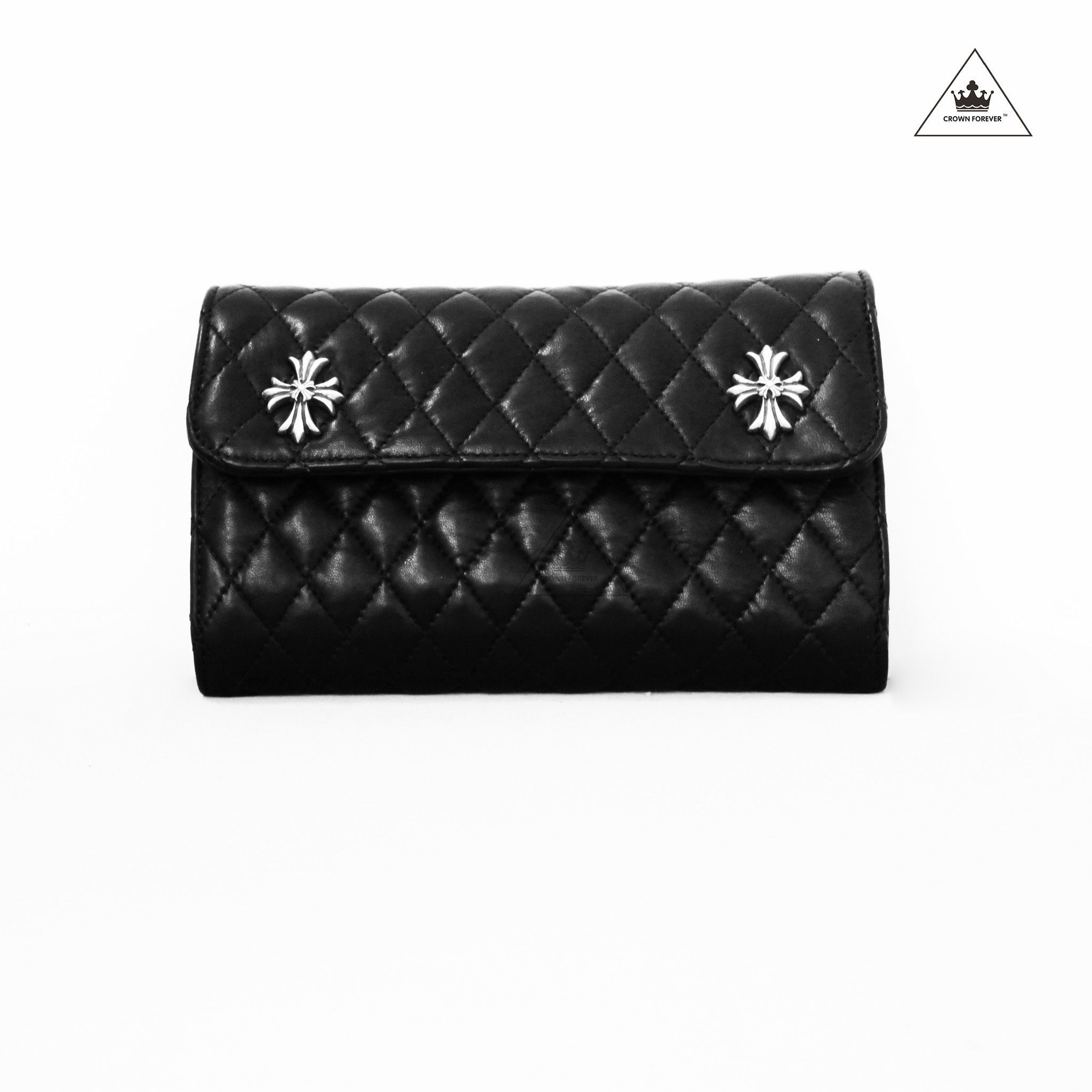 Chrome Hearts Bag Quilted Navy Sterling Silver Hardware Charming aIZPOI