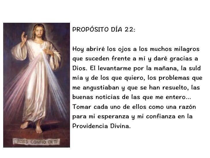CONSAGRACIÓN A LA DIVINA MISERICORDIA DÍA 22  En el nombre del Padre...  ORACIÓN DE SANTA FAUSTINA...  CITA...  REFLEXIÓN... PROPÓSITO...  Fuente: https://www.facebook.com/guadaluperadiotv/photos/a.189188881105088.49201.125207830836527/1454925124531451/?type=3&permPage=1  #ConsagraciónALaDivinaMisericordia #DivinaMisericordia  #MISERICORDIA