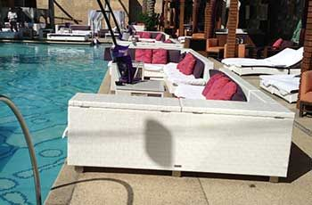 Poolside Marquee Dayclub Couches Seat Up To 10 People With Easy Access The Main Pool