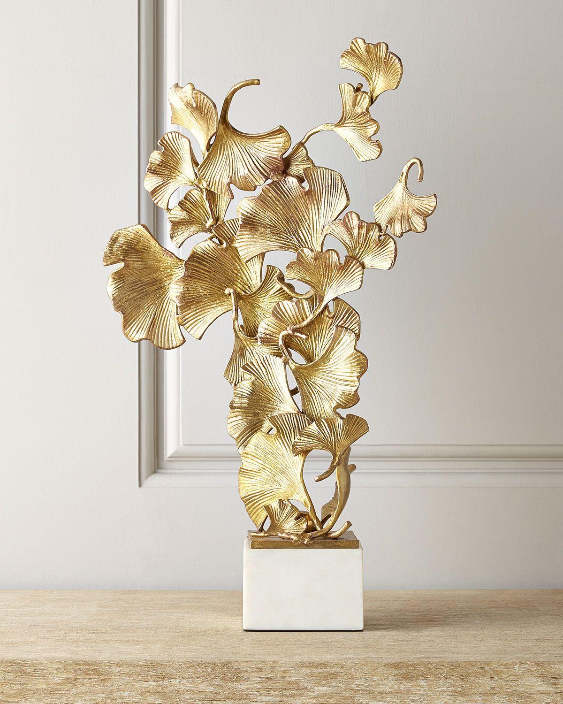 John Richard Collection Floating Ginkgo Leaves Sculpture Sculpture John Richard Collection Ginkgo Leaf
