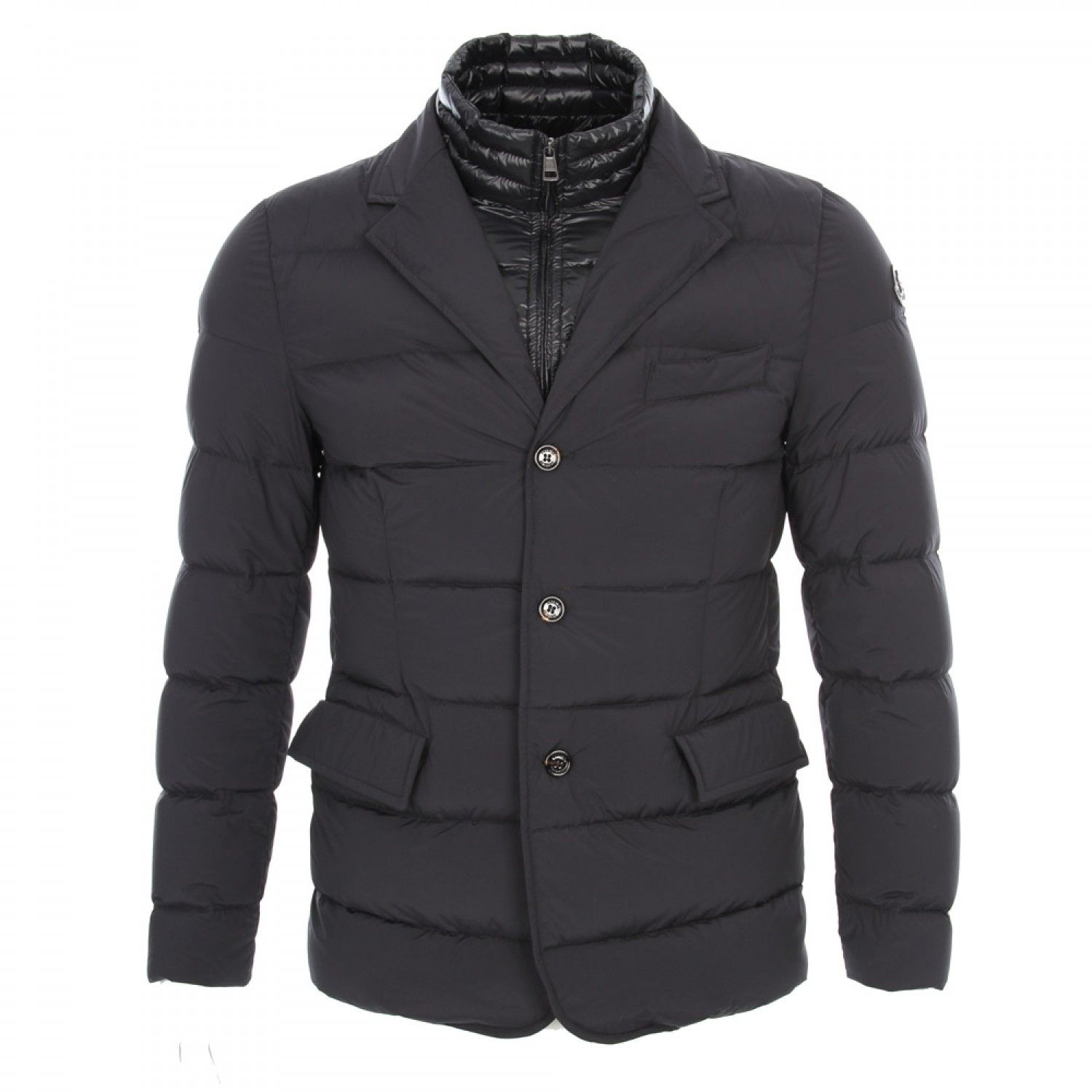 Moncler Rouillac Double Layer Down Filled Blazer Navy