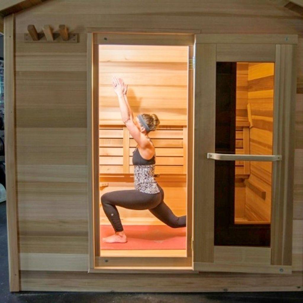 Hot yoga training sauna in 2020 sauna design sauna