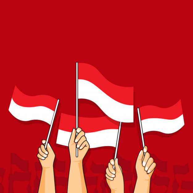 hands waving flags indonesia in 2020 indonesian flag flag islamic cartoon hands waving flags indonesia in 2020
