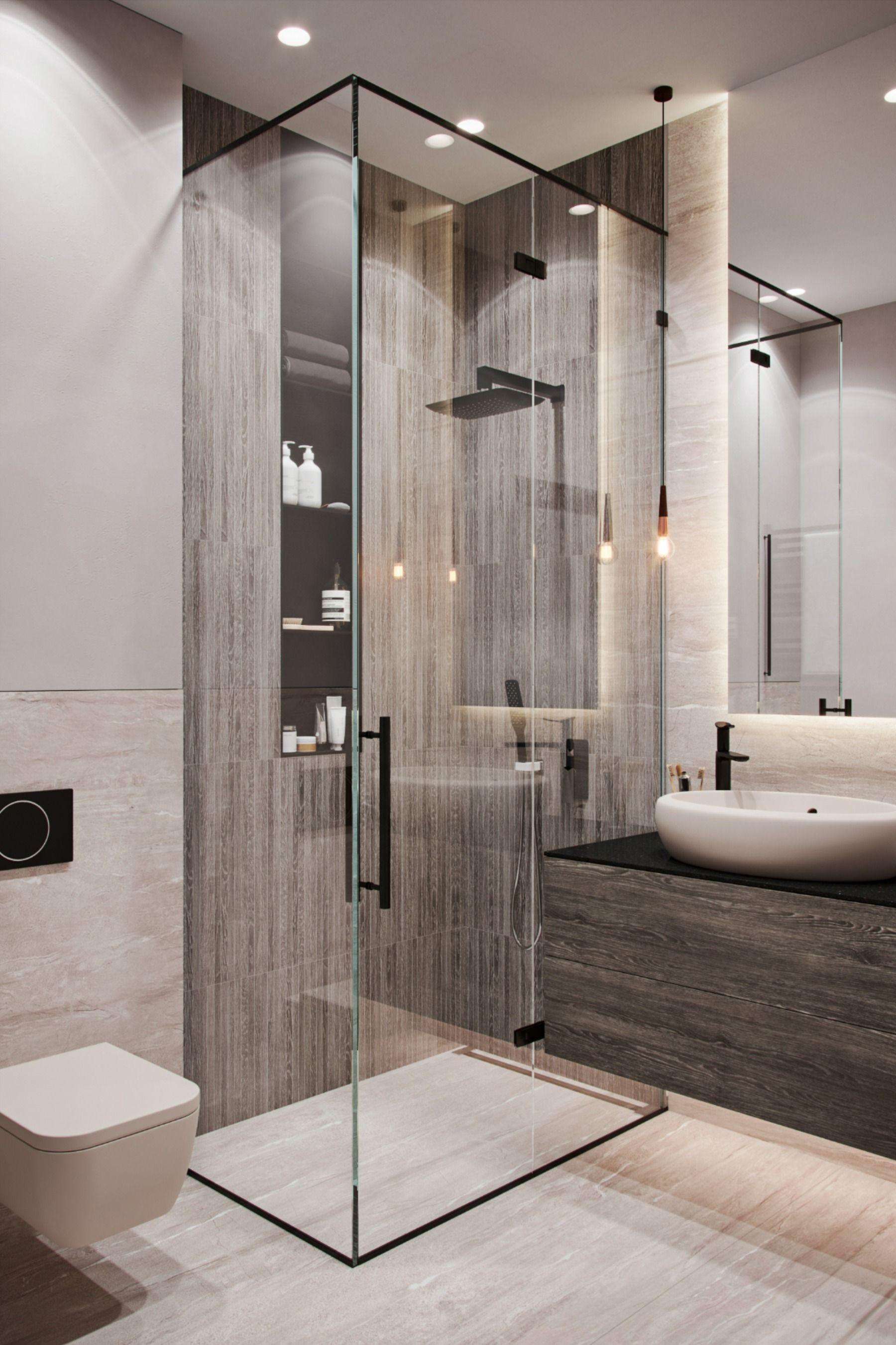 Stunning Shower Room With Glass Panel In 2020 Bathroom Design Small Bathroom Design Inspiration Bathroom Interior Design