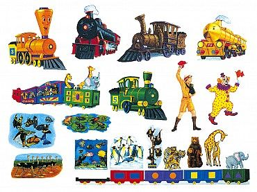 The Little Engine Felt Pieces Goes With The Little Engine That