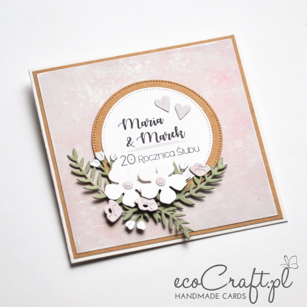 Perlowa Rocznica Slubu Karte Hochzeit Hochzeitskarten Kreativ Basteln
