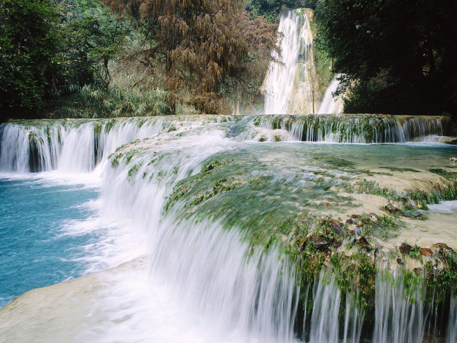 Mexico Minas Viejas Waterfalls Travel World Natural Waterfalls Beautiful Waterfalls Mexico Wallpaper