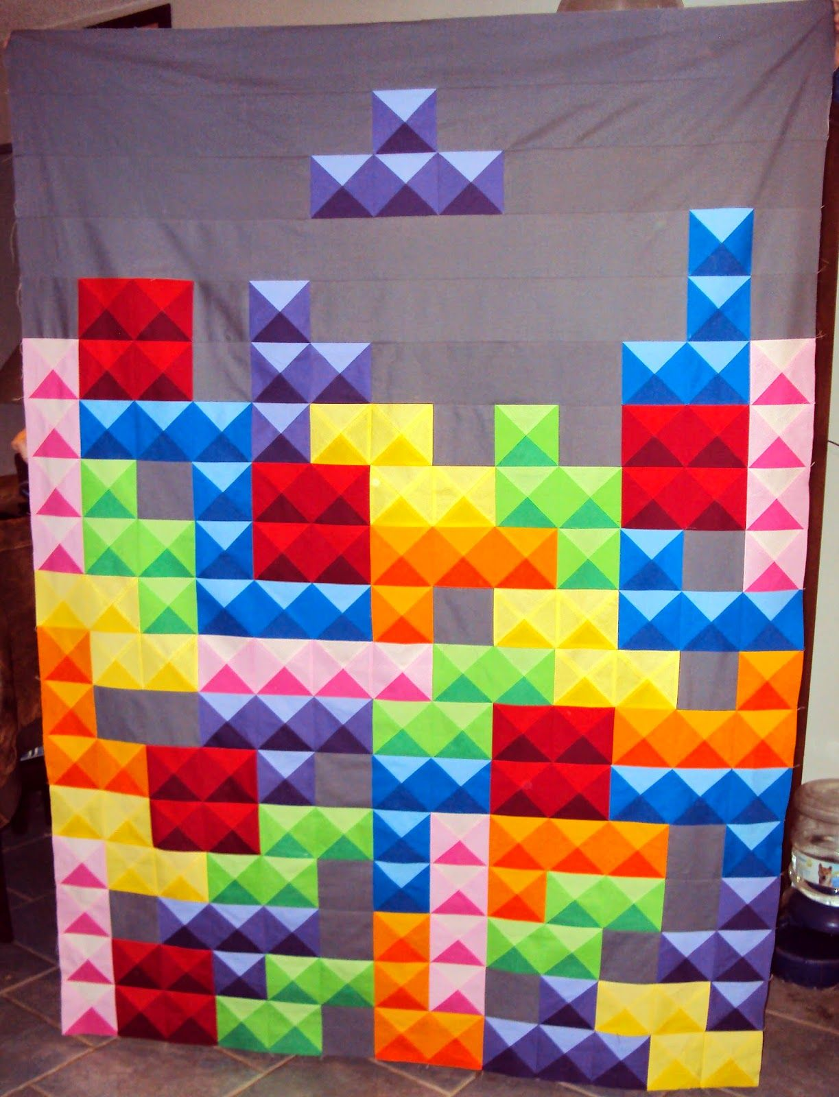 Pieces of Cotton: Tetris 3 | Quilts I Heart | Quilts, Charm quilt