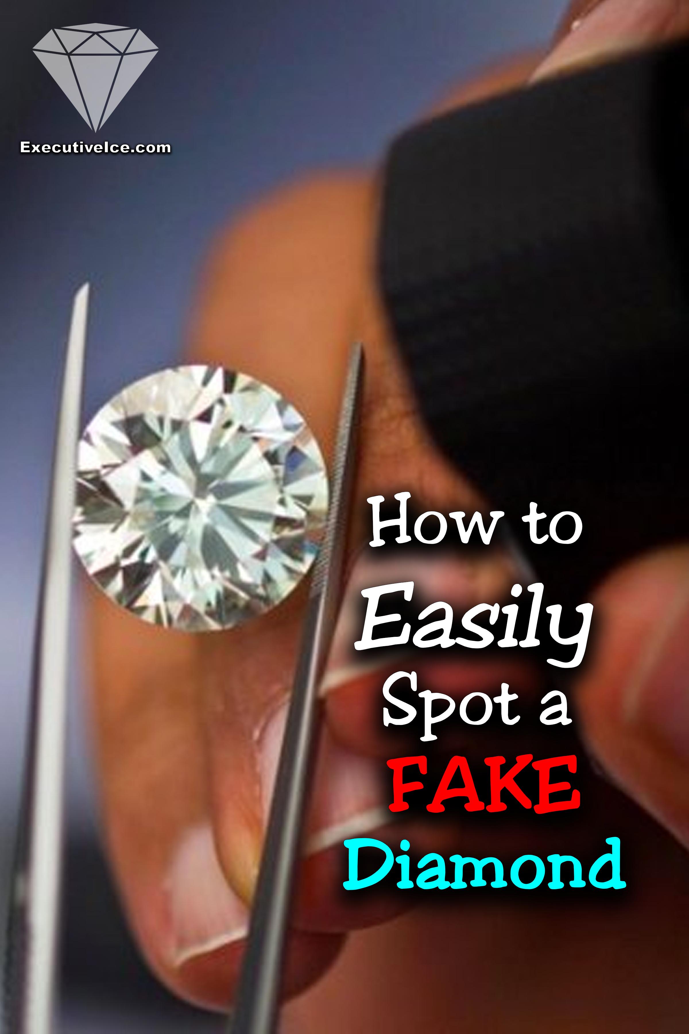 How To Tell If Diamonds Are Real Spot A Fake Easily Fake Diamond Real Diamond Rings Lab Created Diamond Rings