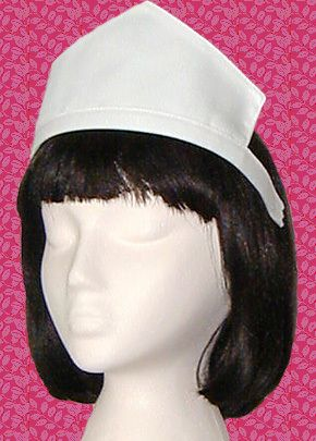 b90e6ac2def Genuine Diner Waitress Uniform White Pointed Headpiece Cap Hat with Headband  New