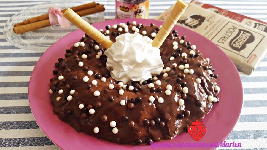 Flan de leche condensada y chocolate en microondas | Cocina