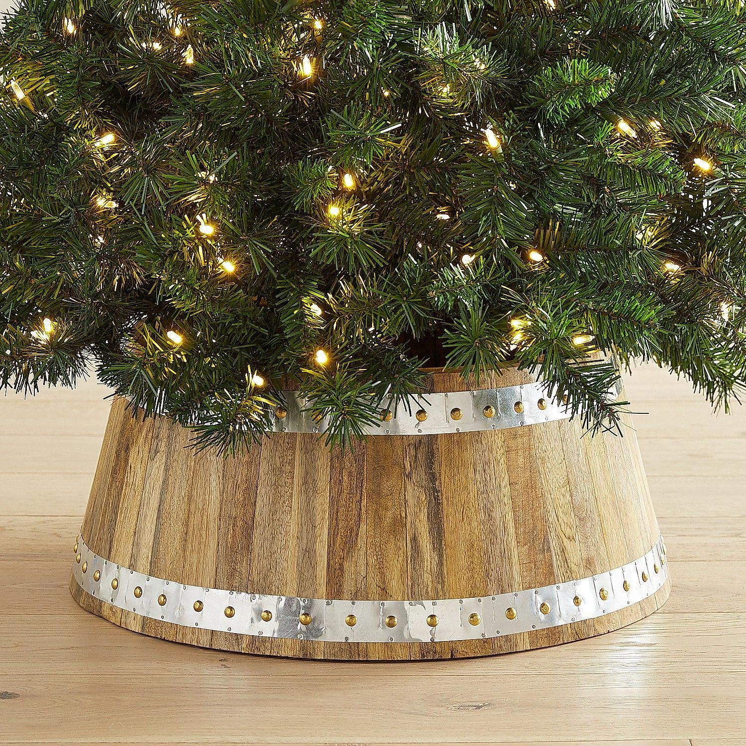 Wood & Galvanized Metal Tree Collar Pier 1 Imports