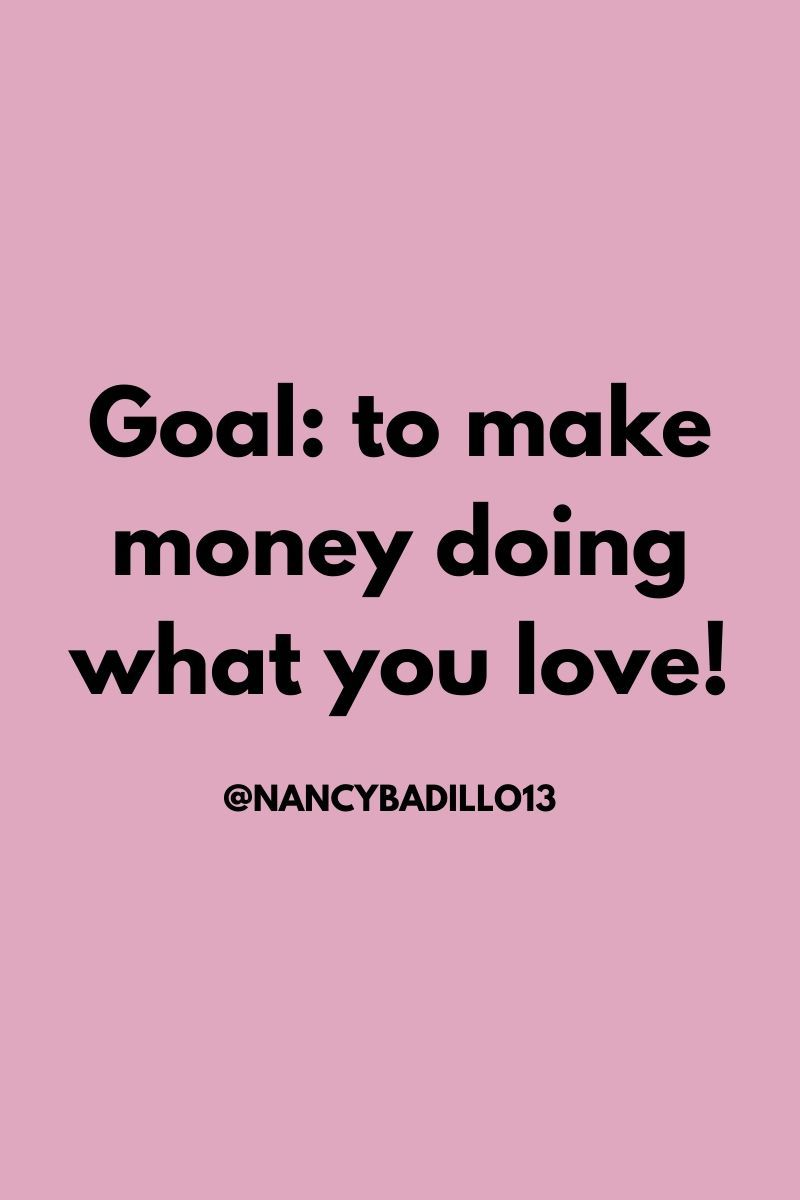 How To Do What You Love And Make Money