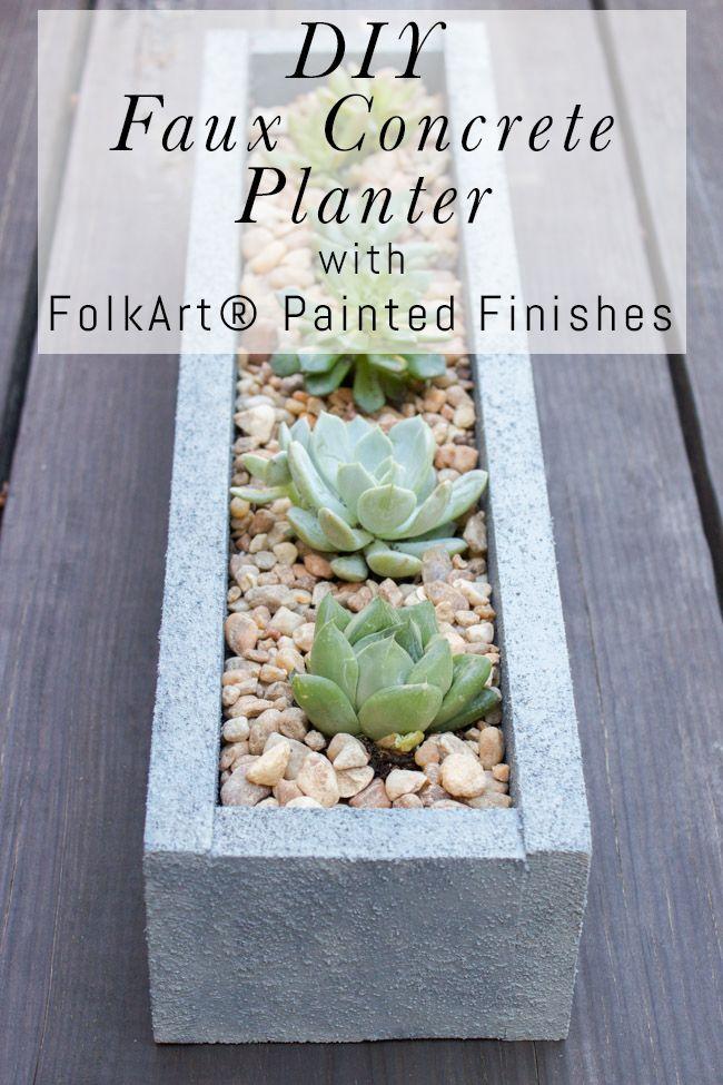 Diy Faux Concrete Planter Tutorial Concrete Planters 400 x 300