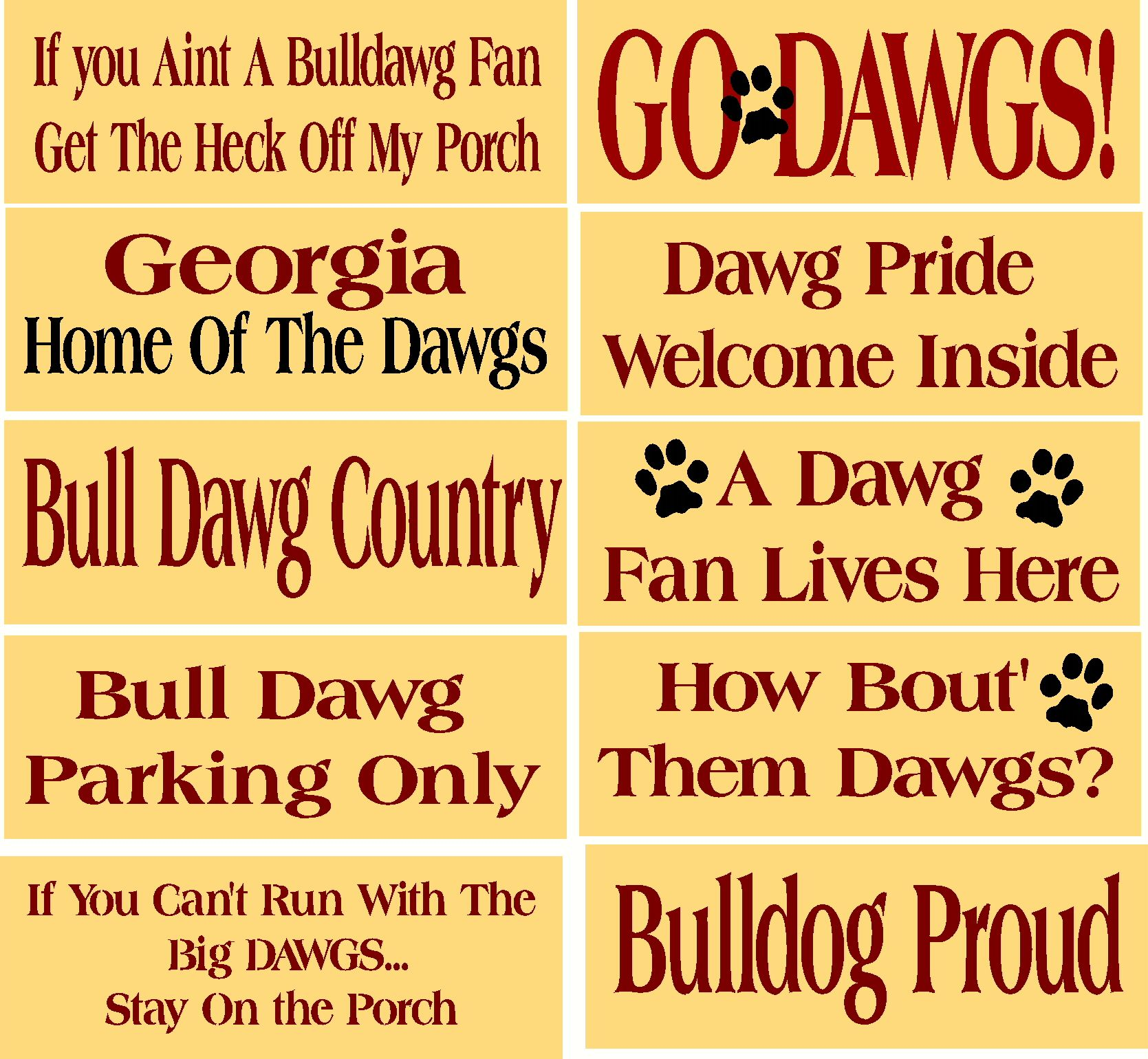 stencil set 10 pc item st dawgs bulldawgs bulldogs school