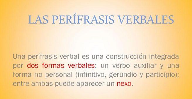 Las Perifrasis Verbales Verbal