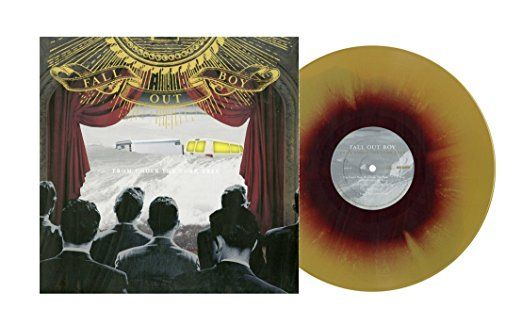 from under the cork tree by fall out boy (limited edition maroon and gold swirl colored vinyl)