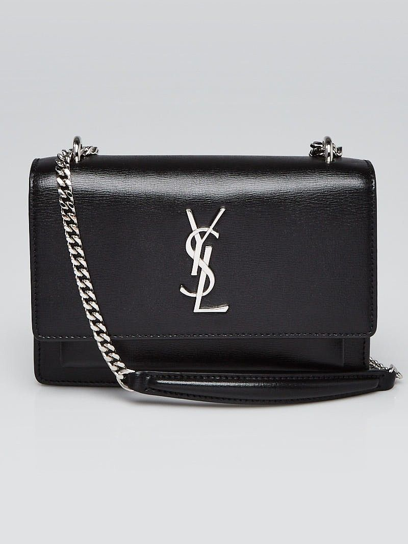 Yves Saint Laurent Black Leather Mini Sunset Chain Bag Chain Bags Leather Mini Yves Saint Laurent