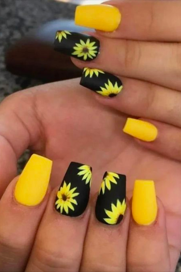 60+ Yellow Nails with Gel and Matte in Oval and Coffin Shapes - Page 5 of 10 - The First-Hand Fashion News for Females