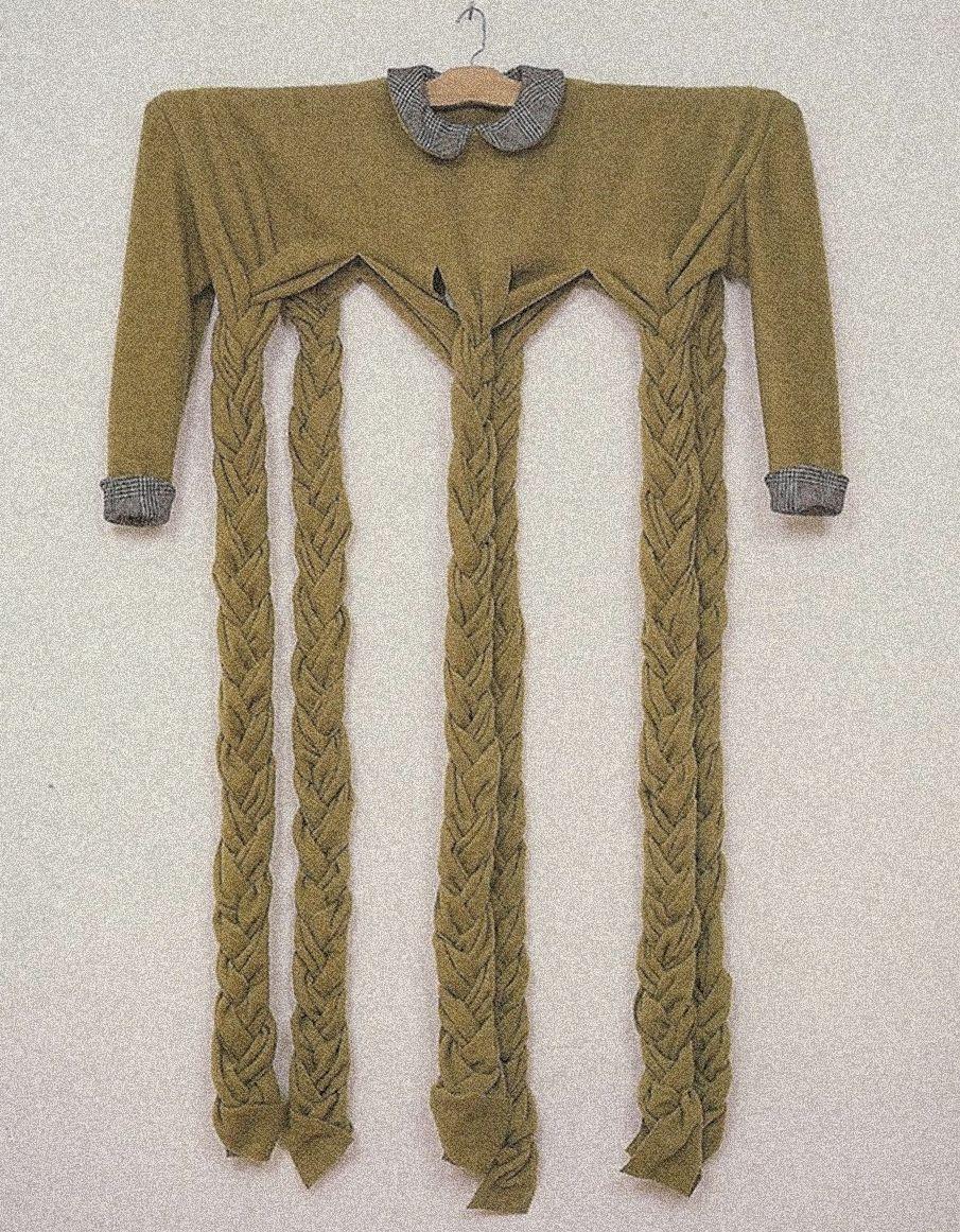 Braided Green Dress, 1991    by Beverley Semmes