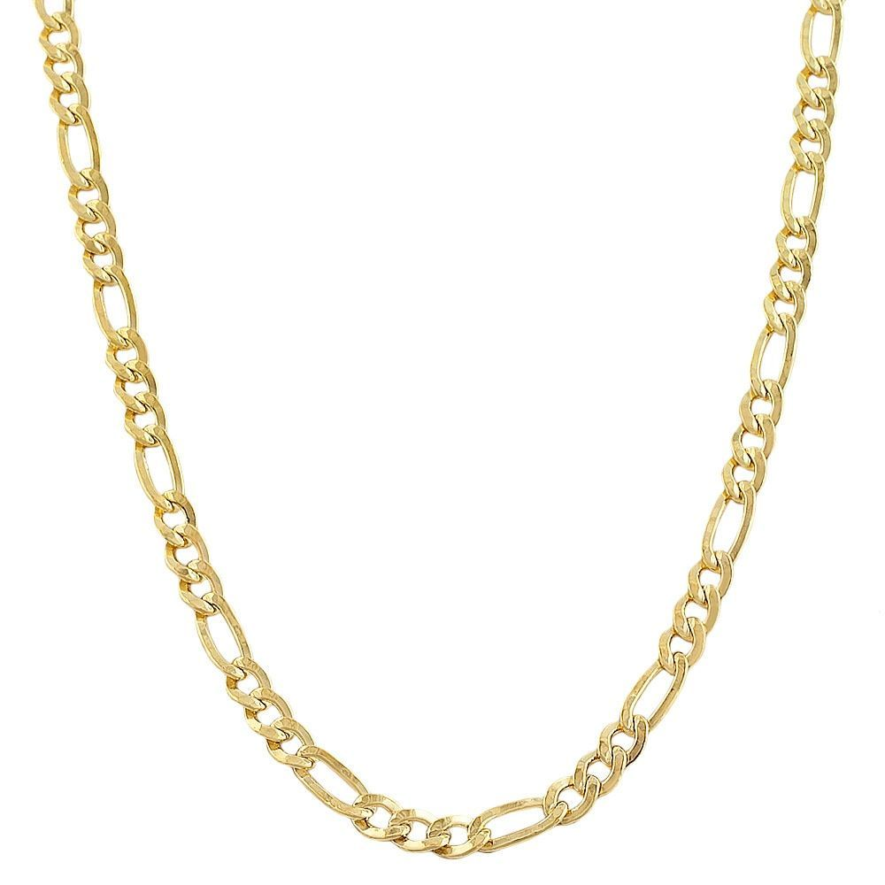 5072429516dd Fremada 14k Yellow Gold-filled Solid Figaro Link Chain Necklace (30 Inch -  30 Inch)