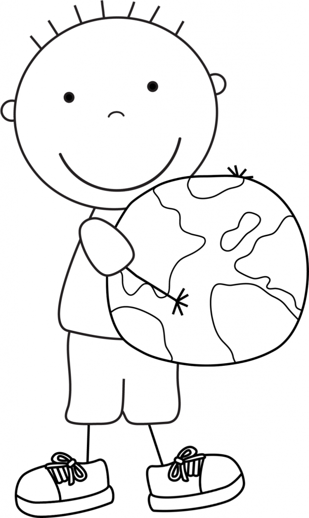 Kid Color Pages: Earth Day for Boys | Kids colouring, Earth and School