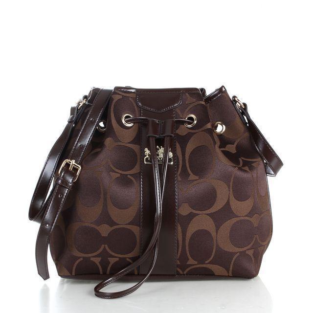 Coach Drawstring Medium Coffee Shoulder Bags FCB | Fashion ...