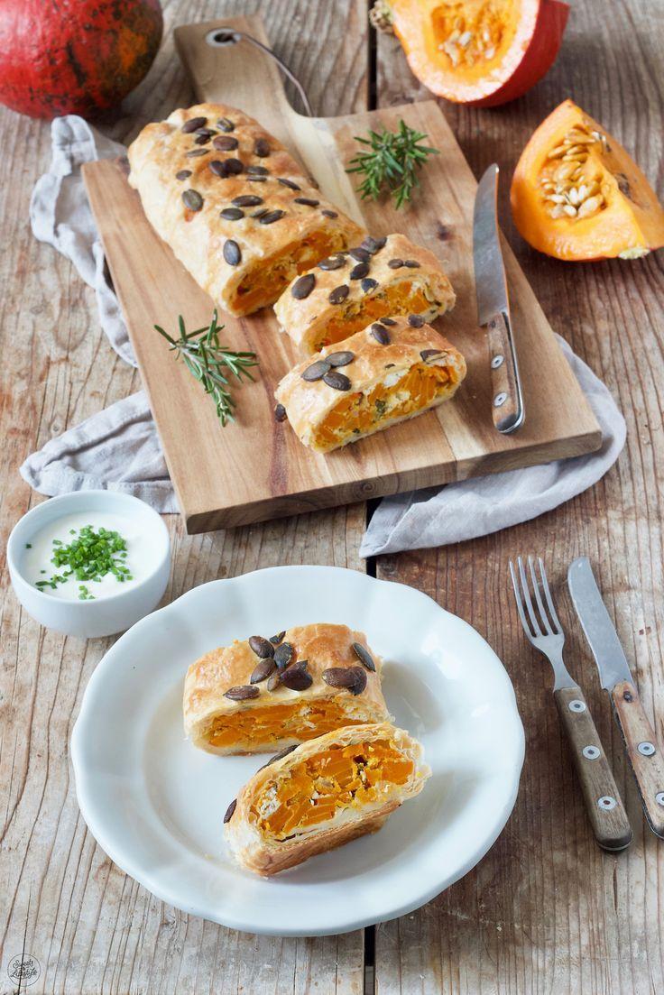 Kürbisstrudel mit Feta #pumpkinrecipes