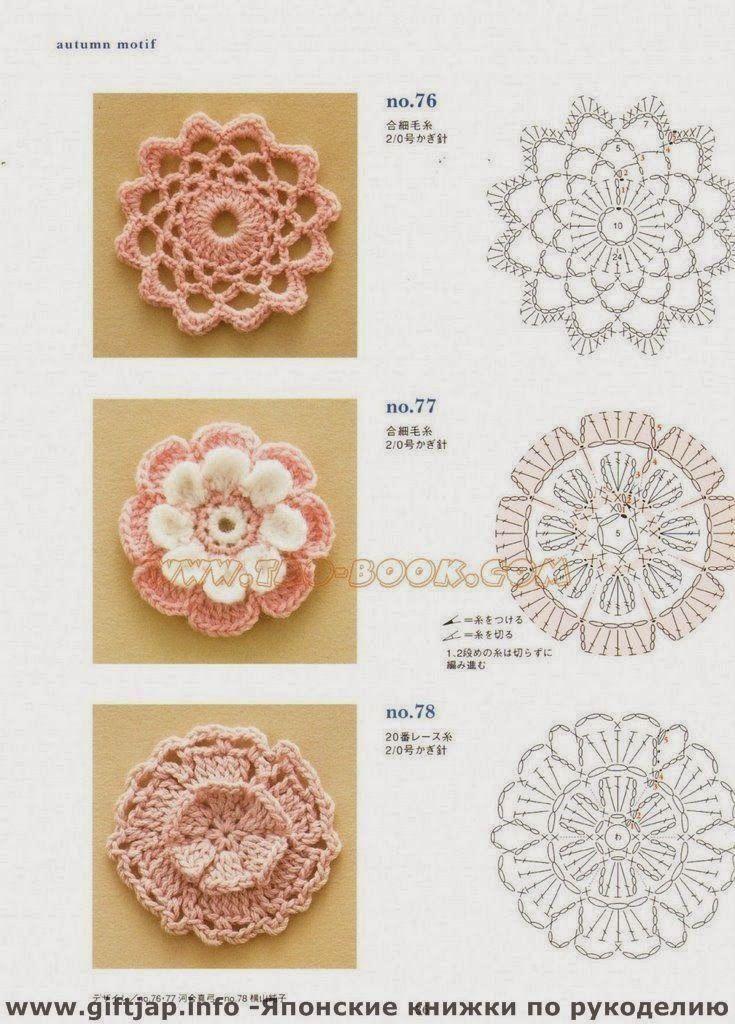 3 Patrones de Flores Muy Facil | Patrones Crochet, Manualidades y ...
