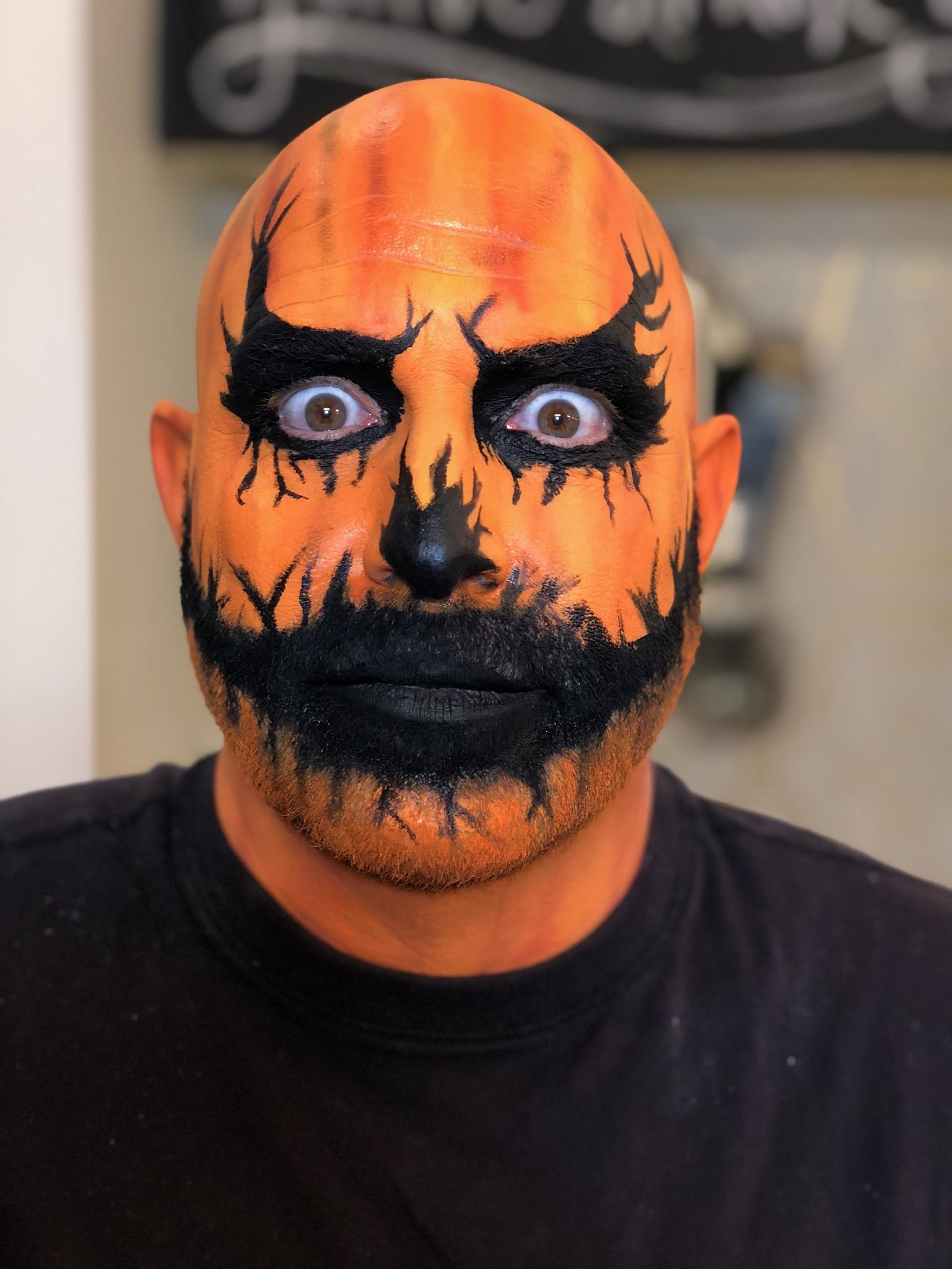 jack o lantern makeup by goldplaited costume makeup