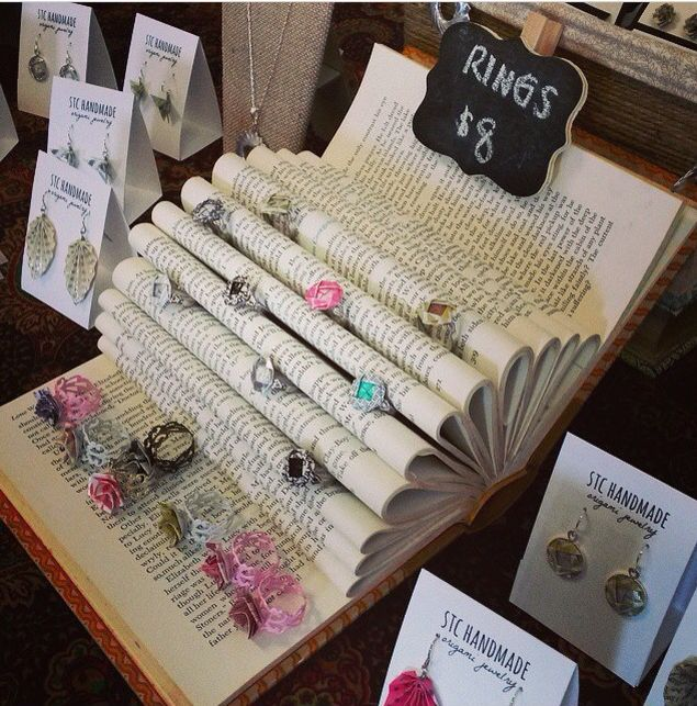 Vintage book #jewelrydisplay #visualmerchandising